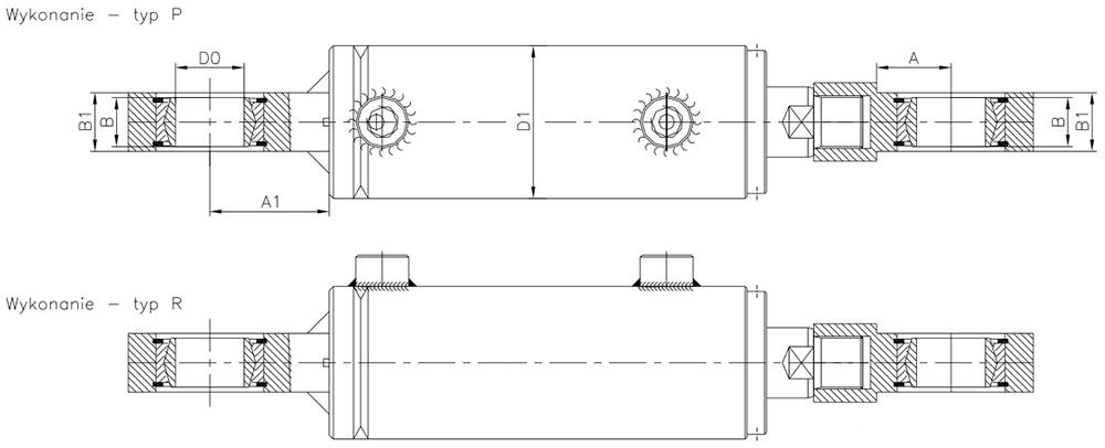 Oznaczenia siłowników hydraulicznych CBE