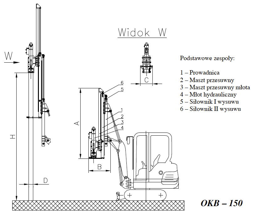 Budowa i zasada działania OKB – 150