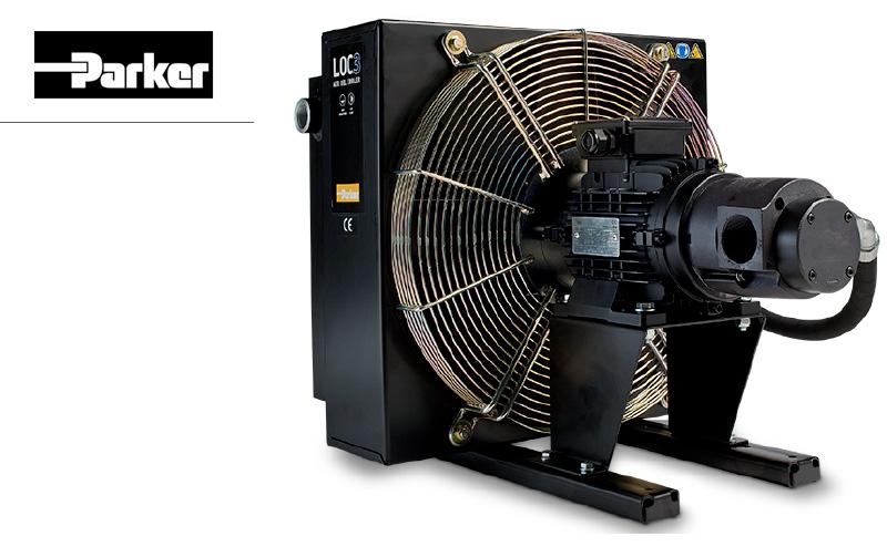 Zespół chłodzący typu LOC z silnikiem prądu zmiennego