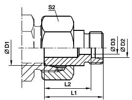 KOR Łącznik redukcyjny stożka 24 stopni - rysunek