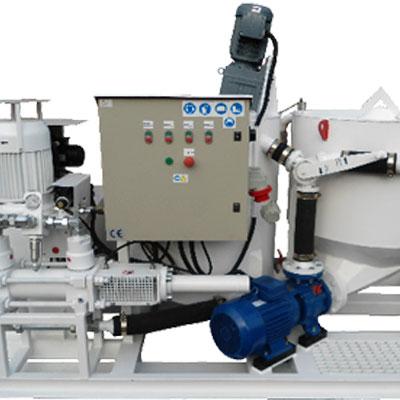 Zestaw mieszalnikowo iniekcyjny typu ZMI-100E i ZMI-100H