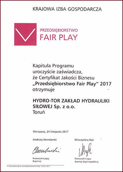 Przedsiębiorstwo Fair-Play 2017