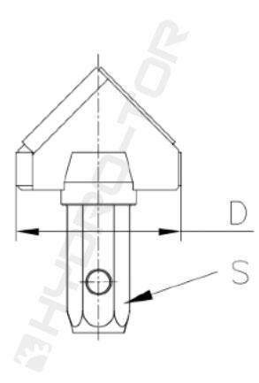 Głowice widiowe trójkątne typ GTW